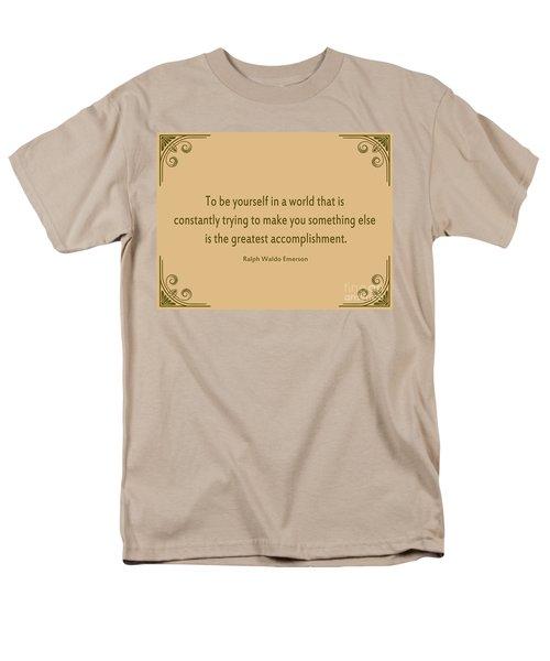 58- Ralph Waldo Emerson Men's T-Shirt  (Regular Fit) by Joseph Keane