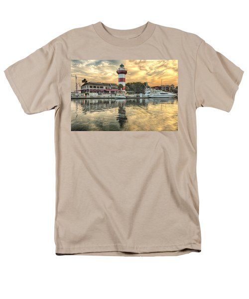 Lighthouse On Hilton Head Island Men's T-Shirt  (Regular Fit) by Peter Lakomy