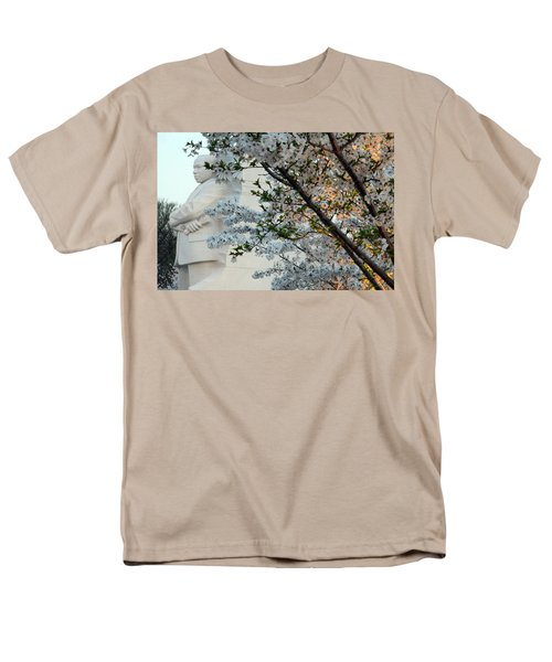 Men's T-Shirt  (Regular Fit) featuring the photograph A Cherry Blossomed Martin Luther King by Cora Wandel