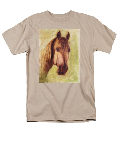 Men's T-Shirt  (Regular Fit) featuring the painting A Fine Horse by Xueling Zou