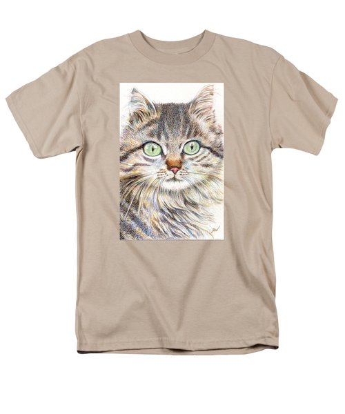 Men's T-Shirt  (Regular Fit) featuring the drawing A Handsome Cat  by Jingfen Hwu