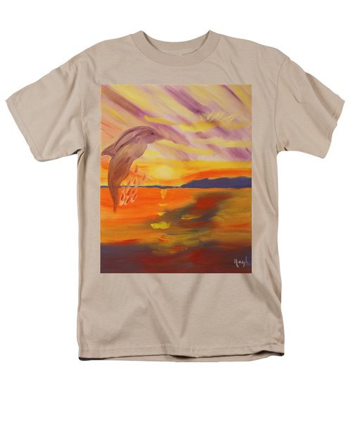 Men's T-Shirt  (Regular Fit) featuring the painting A Leap Of Joy by Meryl Goudey