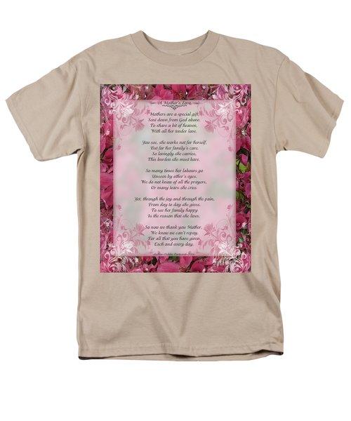 A Mother's Love  8x10 Format Men's T-Shirt  (Regular Fit) by Debbie Portwood