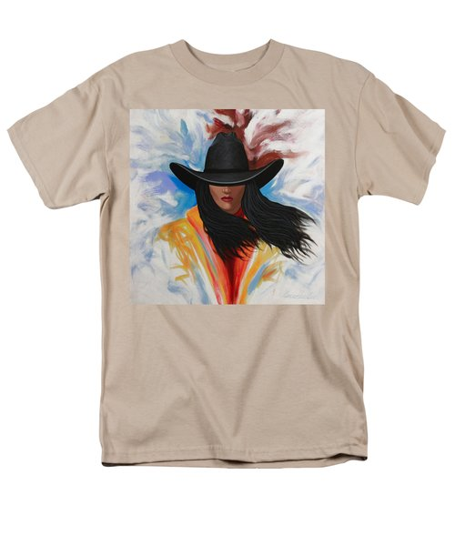 A Stroke Of Cowgirl Men's T-Shirt  (Regular Fit) by Lance Headlee