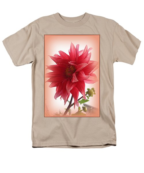 A Vision In  Coral - Dahlia Men's T-Shirt  (Regular Fit) by Dora Sofia Caputo Photographic Art and Design
