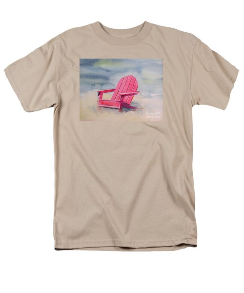 Men's T-Shirt  (Regular Fit) featuring the painting Adirondack At The Beach by Ranjini Kandasamy