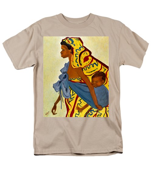 African Mother And Child Men's T-Shirt  (Regular Fit) by Sher Nasser