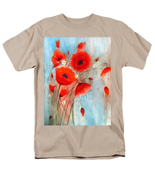 Men's T-Shirt  (Regular Fit) featuring the painting After The Rain.. by Cristina Mihailescu