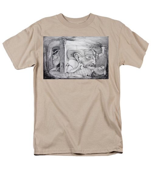 Men's T-Shirt  (Regular Fit) featuring the drawing Alpha And Omega - The Reconstruction Of Bogomils Universe by Otto Rapp