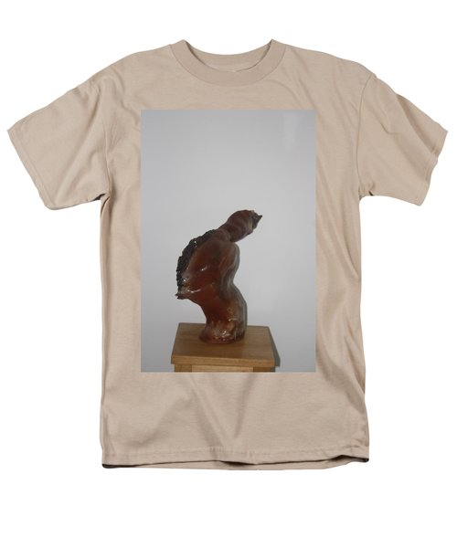 Men's T-Shirt  (Regular Fit) featuring the sculpture American Athlete...inspiration Gail Devers by Gloria Ssali