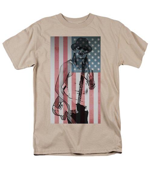 American Badass Men's T-Shirt  (Regular Fit) by Dan Sproul
