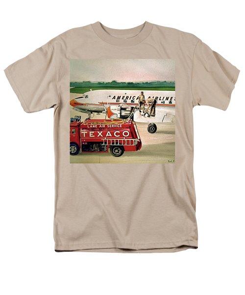 American Dc-6 At Columbus Men's T-Shirt  (Regular Fit) by Frank Hunter