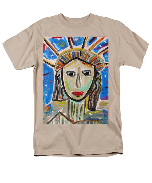 Men's T-Shirt  (Regular Fit) featuring the painting American Lady by Mary Carol Williams