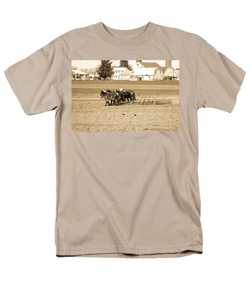 Amish Farm Men's T-Shirt  (Regular Fit) by Menachem Ganon