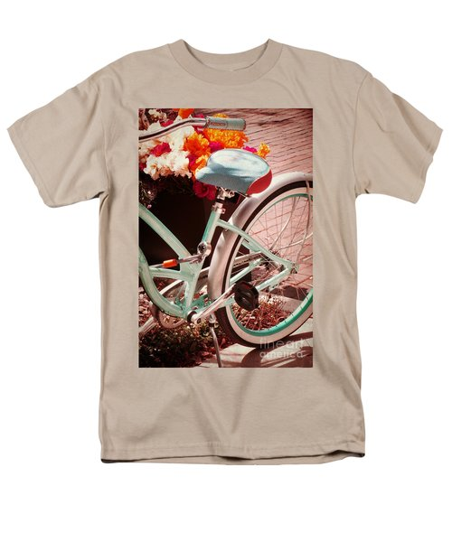 Men's T-Shirt  (Regular Fit) featuring the digital art Aqua Bicycle by Valerie Reeves