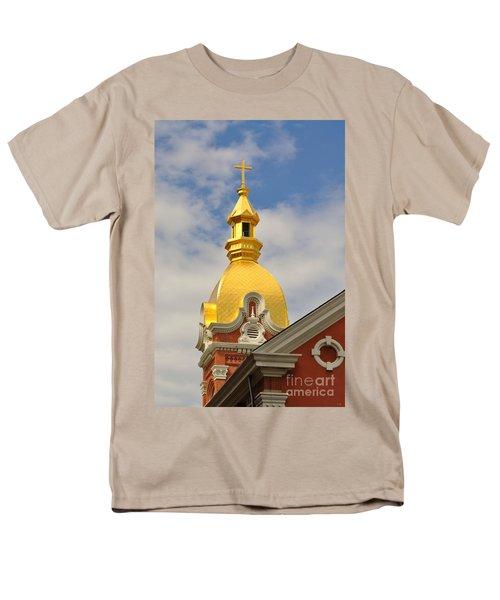 Architecture - Golden Cross Men's T-Shirt  (Regular Fit) by Liane Wright