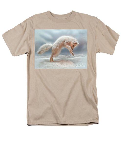 Artic White Wolf Men's T-Shirt  (Regular Fit) by Joan  Minchak