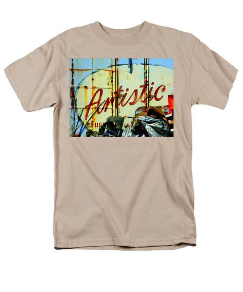 Men's T-Shirt  (Regular Fit) featuring the photograph Artistic Junk by Kathy Barney