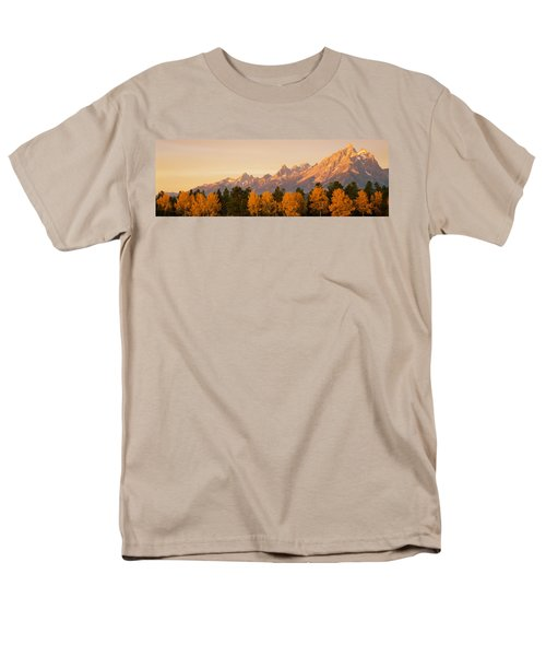 Aspen Trees On A Mountainside, Grand Men's T-Shirt  (Regular Fit) by Panoramic Images
