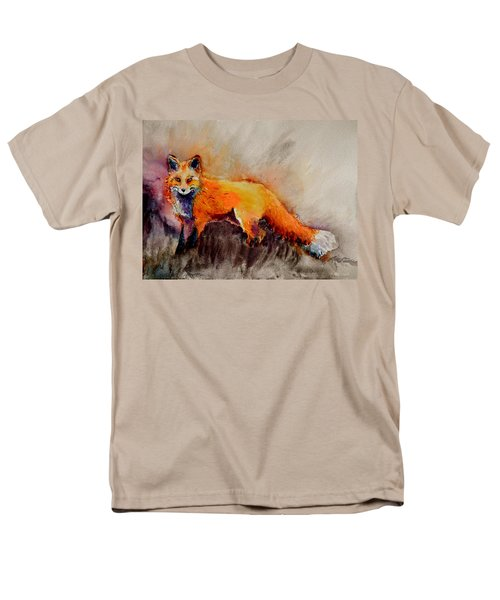 Men's T-Shirt  (Regular Fit) featuring the painting Assessing The Situation by Beverley Harper Tinsley