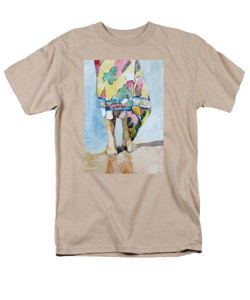Men's T-Shirt  (Regular Fit) featuring the painting At The Beach 1  by Becky Kim
