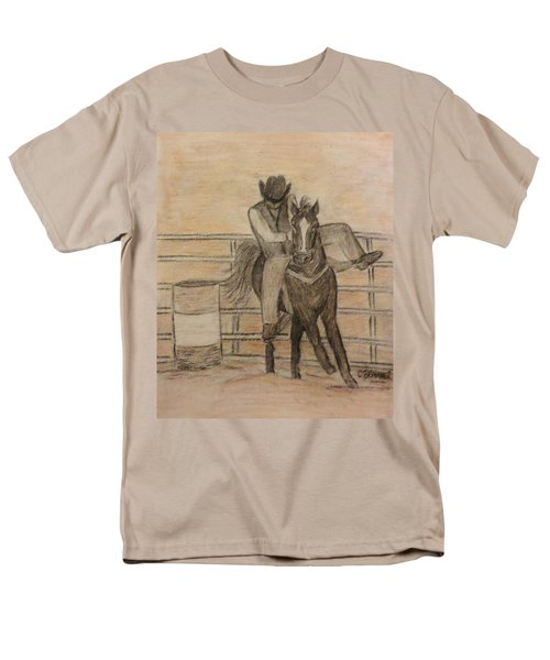 At The Rodeo Men's T-Shirt  (Regular Fit) by Christy Saunders Church