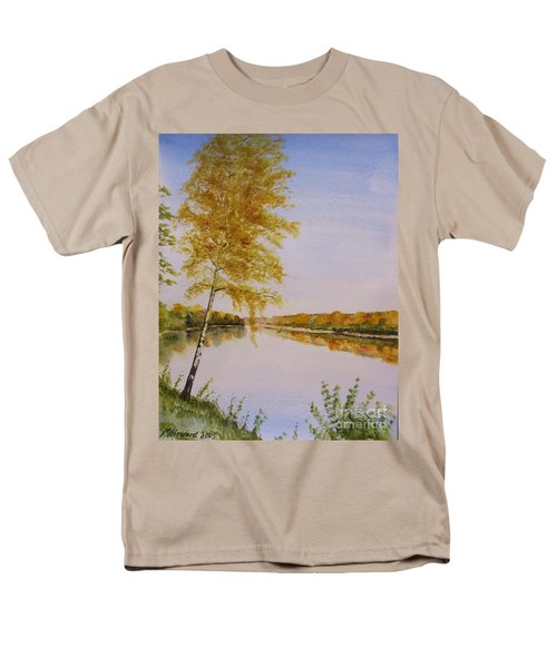 Autumn By The River Men's T-Shirt  (Regular Fit) by Martin Howard