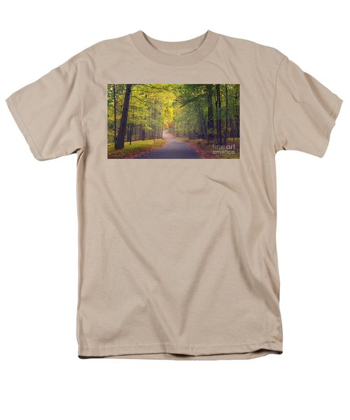 Men's T-Shirt  (Regular Fit) featuring the photograph Autumn Road by Rima Biswas