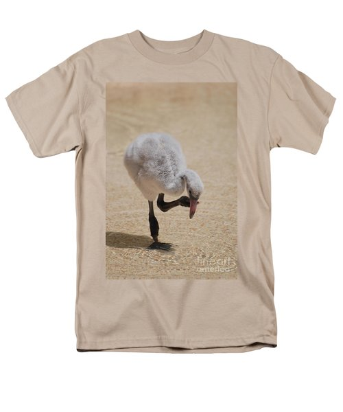 Baby Flamingo Men's T-Shirt  (Regular Fit) by DejaVu Designs