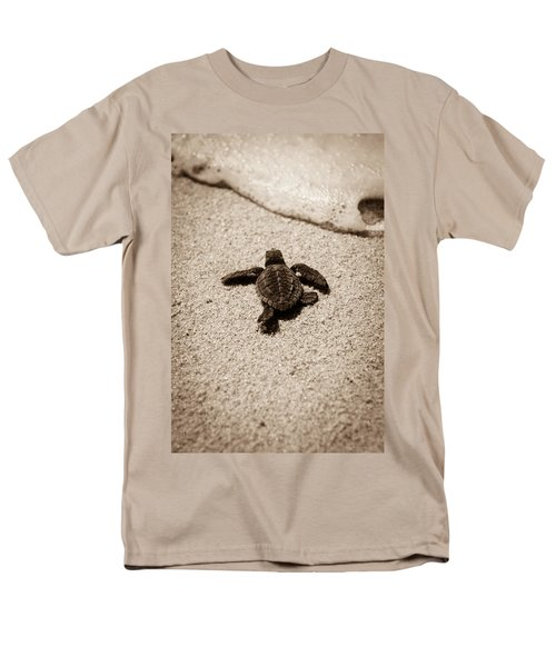 Baby Sea Turtle Men's T-Shirt  (Regular Fit) by Sebastian Musial