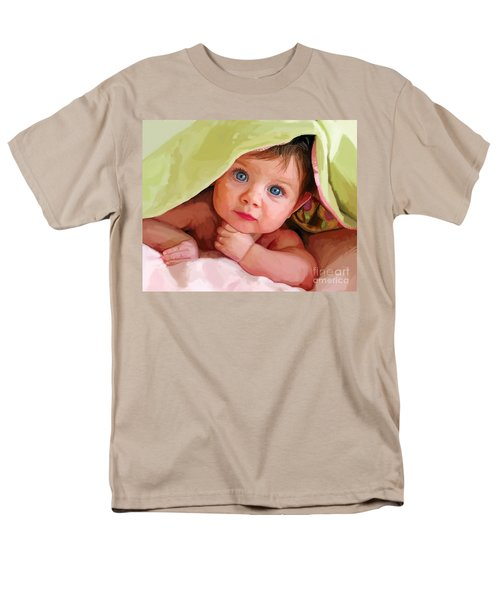 Men's T-Shirt  (Regular Fit) featuring the painting Baby Under Blanket by Tim Gilliland