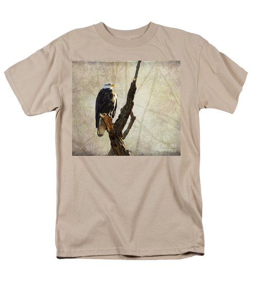 Bald Eagle Keeping Watch In Illinois Men's T-Shirt  (Regular Fit) by Luther Fine Art