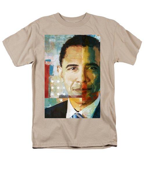 Barack Obama Men's T-Shirt  (Regular Fit) by Corporate Art Task Force