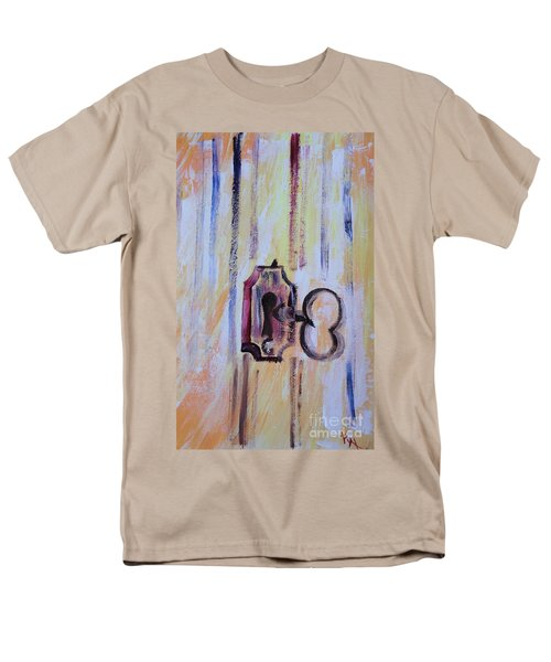 Men's T-Shirt  (Regular Fit) featuring the painting Barn Secrets by PainterArtist FIN