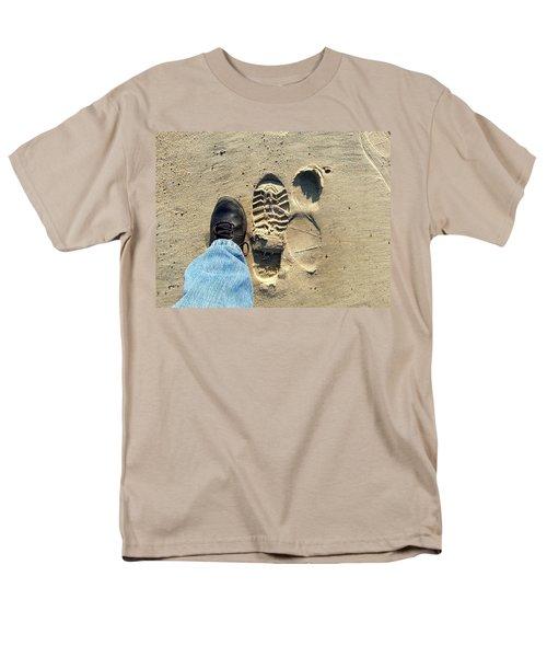 Beach Of Big Feet Men's T-Shirt  (Regular Fit) by Lon Casler Bixby