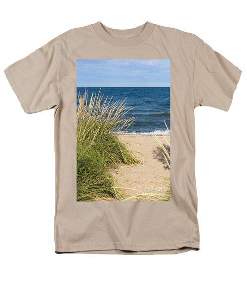 Beach Path Men's T-Shirt  (Regular Fit) by Barbara McMahon