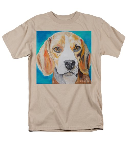 Men's T-Shirt  (Regular Fit) featuring the painting Beagle by PainterArtist FIN
