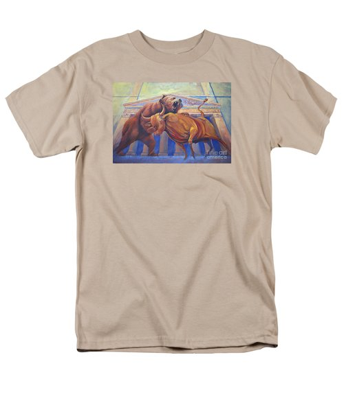 Bear Vs Bull Men's T-Shirt  (Regular Fit) by Rob Corsetti