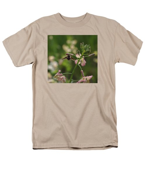 Men's T-Shirt  (Regular Fit) featuring the photograph Pink Mustard Flower by Adria Trail