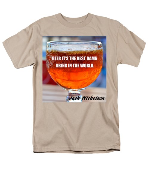 Beer Quote By Jack Nicholson Men's T-Shirt  (Regular Fit) by David Lee Thompson