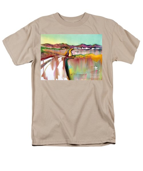 Men's T-Shirt  (Regular Fit) featuring the painting Bethel Road by Teresa Ascone