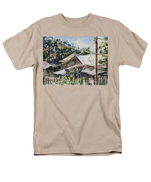 Men's T-Shirt  (Regular Fit) featuring the painting Bird's Eye View by Xueling Zou