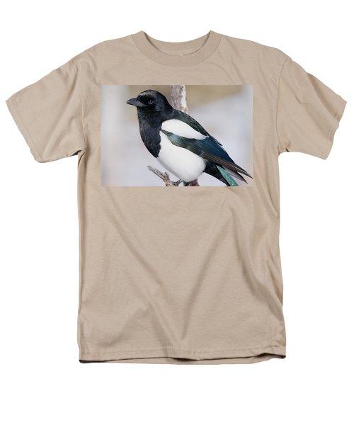 Black-billed Magpie Men's T-Shirt  (Regular Fit) by Eric Glaser