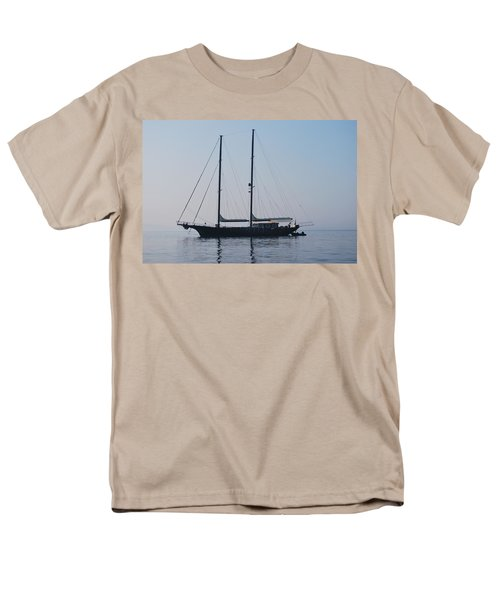 Black Ship 1 Men's T-Shirt  (Regular Fit) by George Katechis