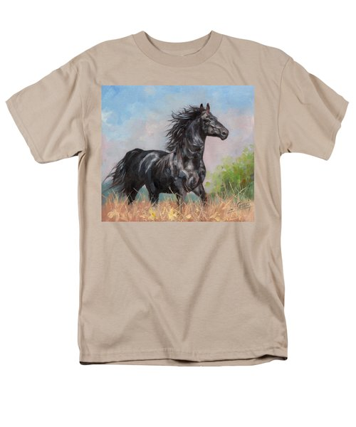 Black Stallion Men's T-Shirt  (Regular Fit) by David Stribbling