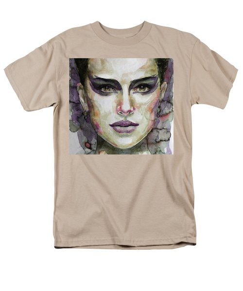 Men's T-Shirt  (Regular Fit) featuring the painting Black Swan by Laur Iduc