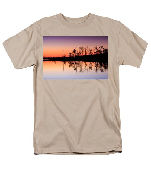 Men's T-Shirt  (Regular Fit) featuring the photograph Blackwater Reflections by Jennifer Casey