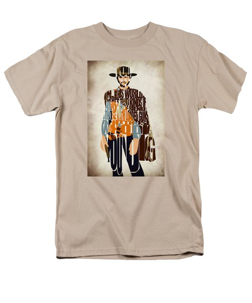 Blondie Poster From The Good The Bad And The Ugly Men's T-Shirt  (Regular Fit) by Ayse Deniz