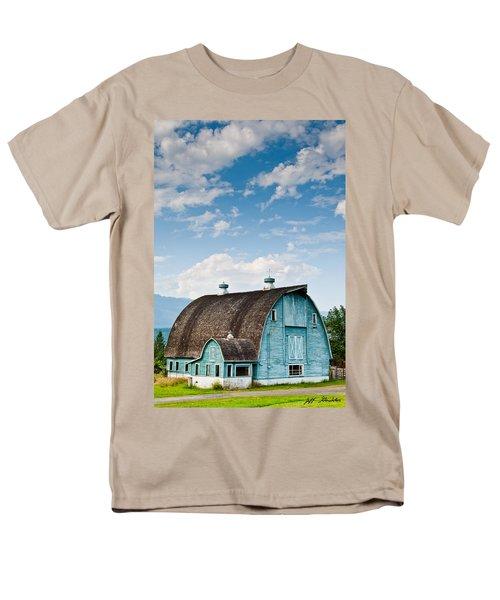 Blue Barn In The Stillaguamish Valley Men's T-Shirt  (Regular Fit) by Jeff Goulden