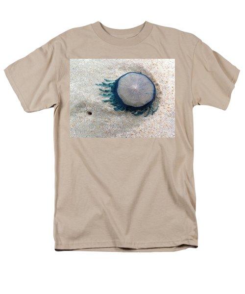 Blue Button #2 Men's T-Shirt  (Regular Fit)